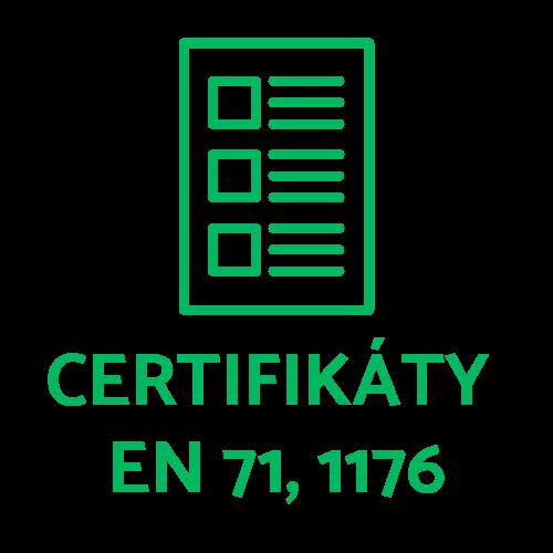 Certifikáty ČSN EN 71-1,2,3